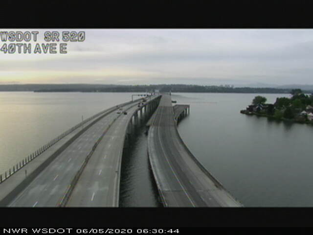 Image posted in Tweet made by WSDOT Traffic on June 5, 2020, 1:46 pm UTC