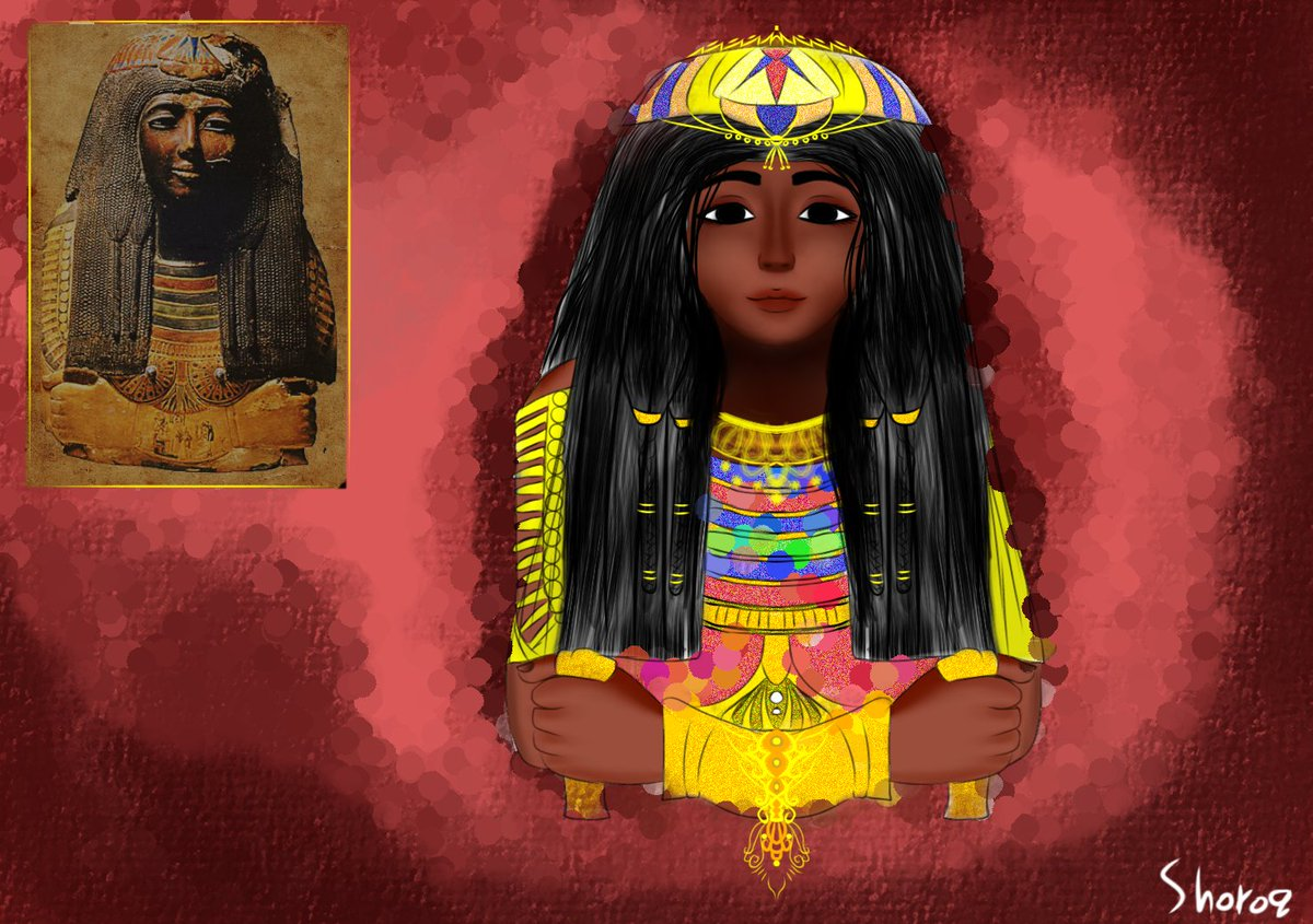 So this is gonna be a thread about the Nubian Queens and kings from both #Sudan and #Egypt, hope U like it  I will try to draw one new picture everyday #NubianArtpic.twitter.com/IciqnZCvMG