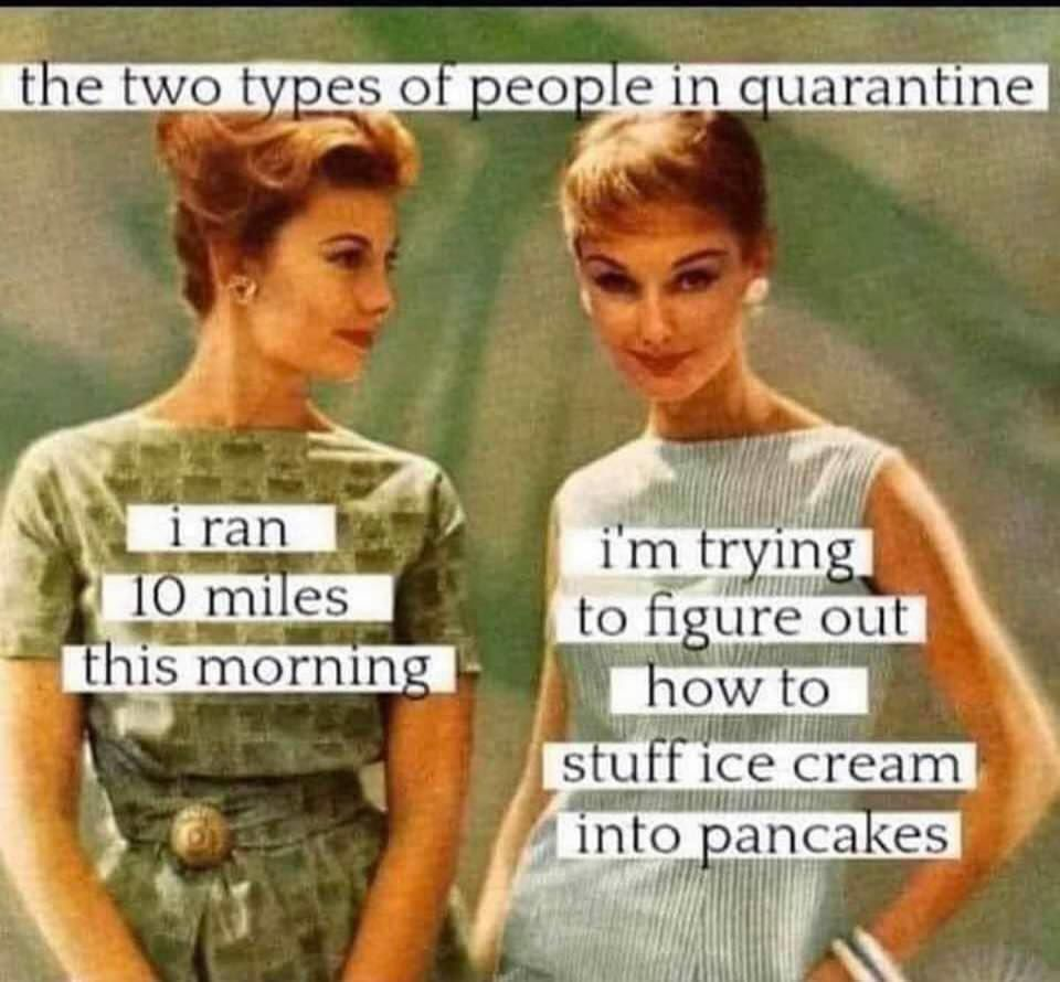 The two types of people in quarantine...