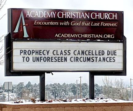 Prophecy class cancelled...