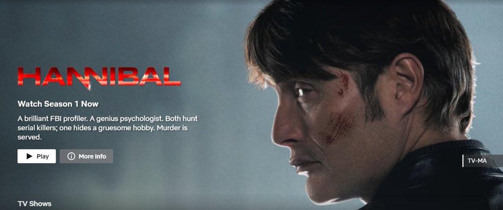 Here's why you should watch #Hannibal on #Netflix , A Thread :   #fannibalslovenetflix  #SaveHannibal #SaveHannibalS4 https://t.co/IfuIY2n6TP