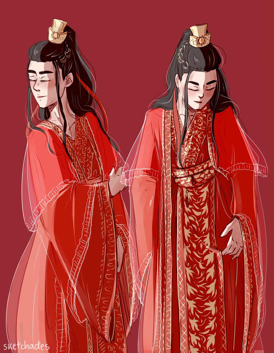Hades They Them On Twitter Wei Ying Traditional Chinese Wedding Robes Lan Zhan He S Like Probably Really Drunk In The Second Pic Wangxian Mdzs Cql Digitalart Artistsontwitter Artwork Fanart Theuntamed Https T Co Hklq42kw8d