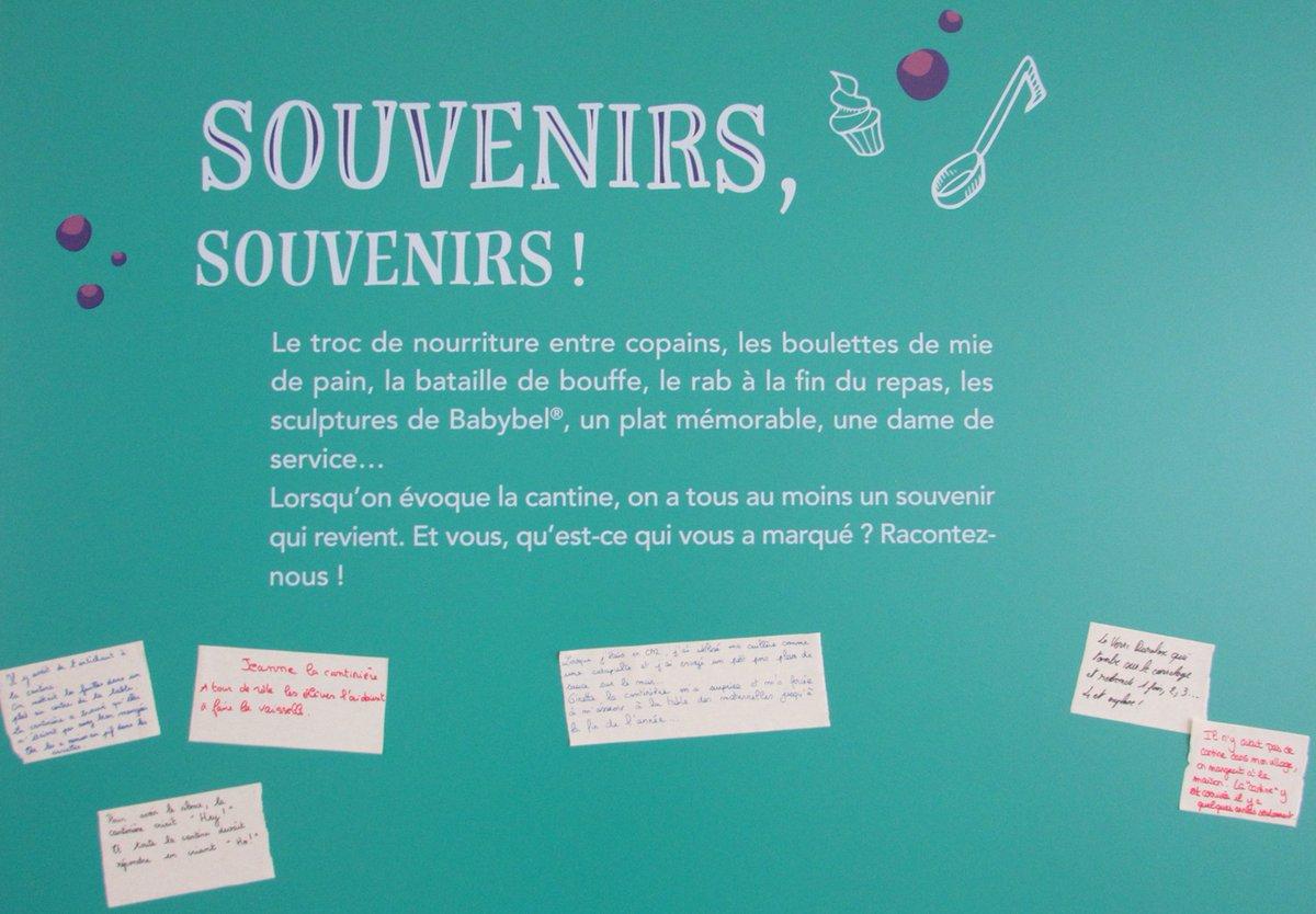 """🥗 [#Expo 2020] Avez-vous des #anecdotes #croustillantes à #partager avec nous sur votre expérience de la #cantine ?   👉 Remplissez le formulaire : https://t.co/h4NfdU9oDa  Retrouvez vos #souvenirs au sein de l'#exposition """"À table ! #École & #alimentation"""". 😁 https://t.co/1pd8IY4Hlj"""