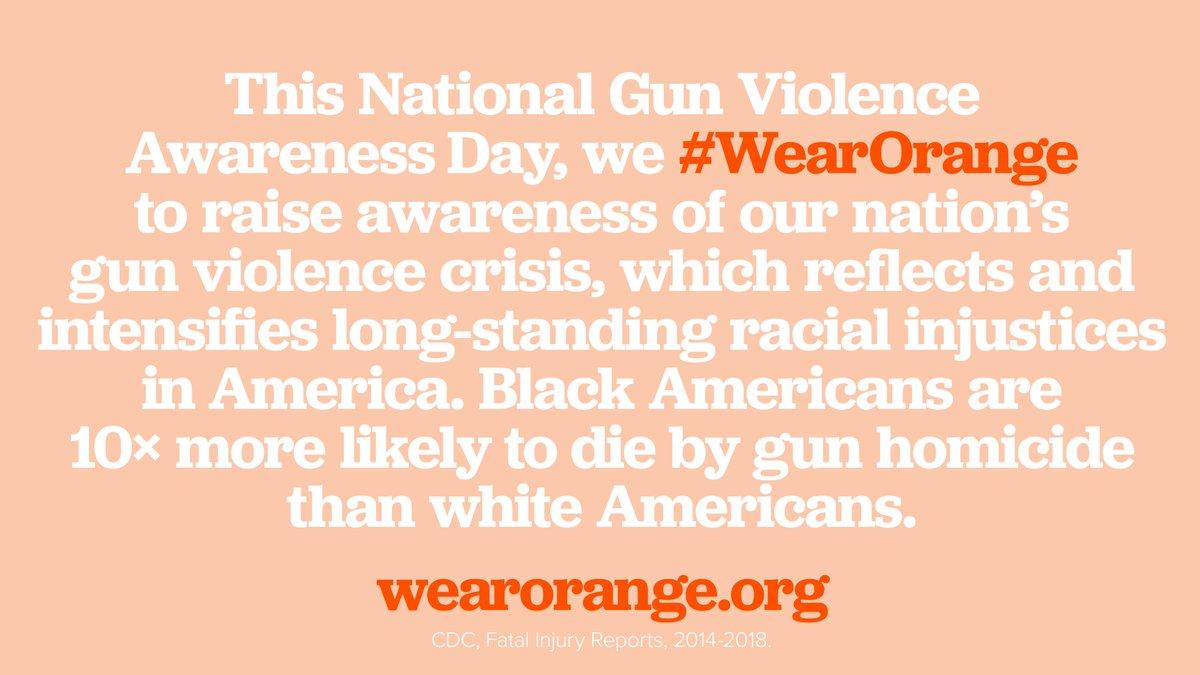 Why do you #WearOrange today?