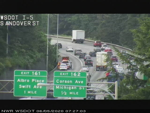 Image posted in Tweet made by WSDOT Traffic on June 5, 2020, 2:42 pm UTC