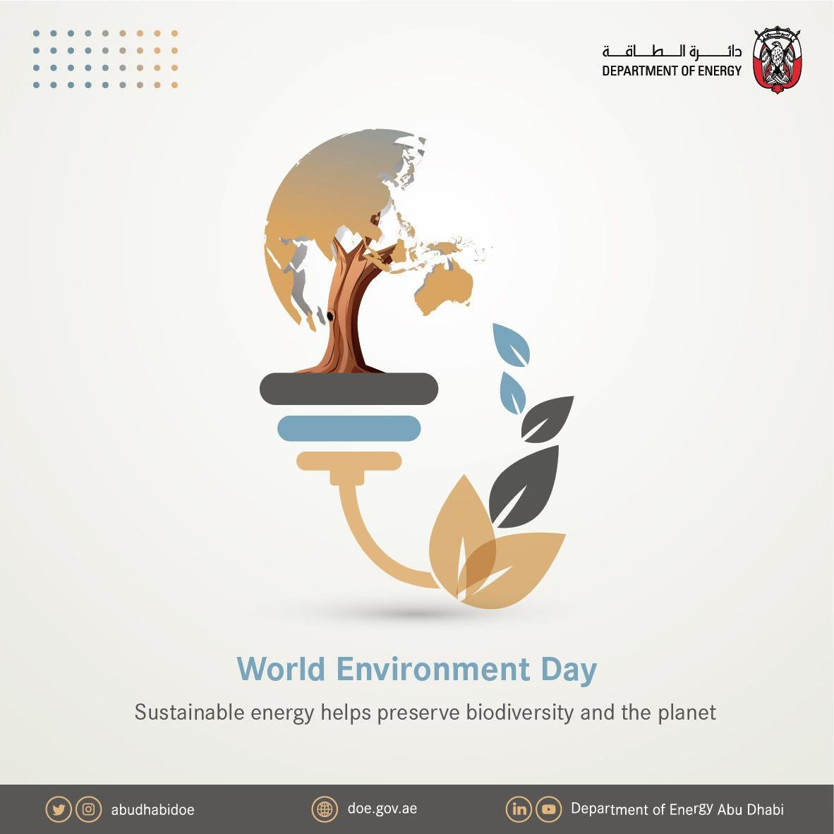 World Environment Day this year celebrates biodiversity. It's a reminder of the need to transition towards clean and sustainable energy to preserve biodiversity and protect our planet.  #ForNature #WorldEnvironmentDay #WED2020 #DoE #Energy #TowardsaNewEnergyEra #StayHome https://t.co/6oPhSx5Eft