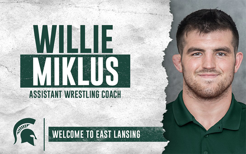 Willie Miklus added to Michigan State wrestling staff  📝: https://t.co/kjMXEUDdy8 https://t.co/SF0HUVEnKU