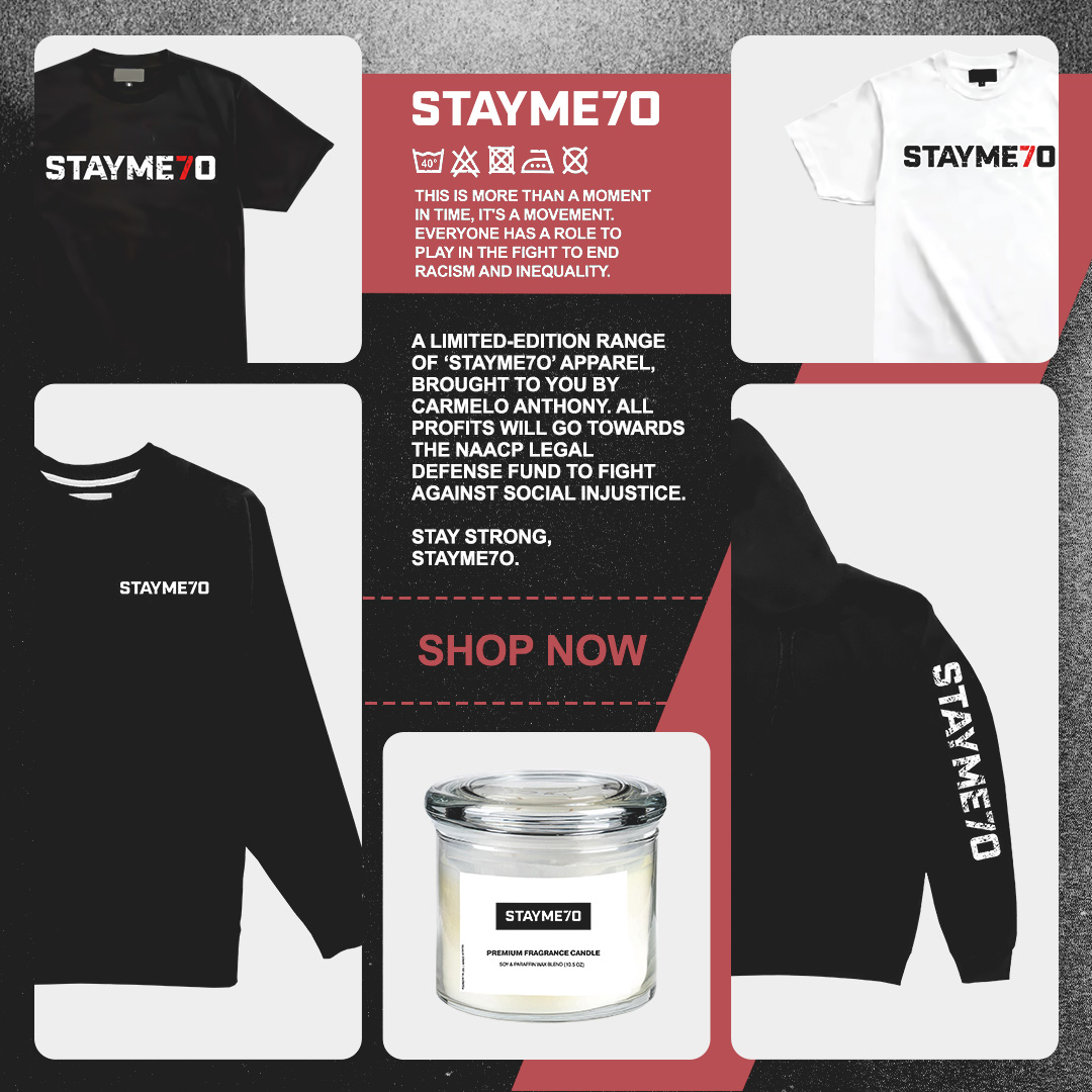 Everyone has a role to play in the fight to end racism and inequality. Limited edition of StayMe7o products available now. Profits will go towards fighting social injustice. Click the link melo-merchandise.myshopify.com