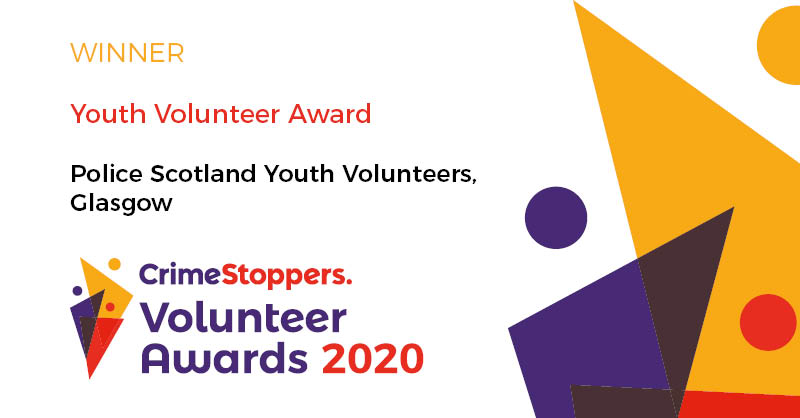 Well done to the Police Scotland Youth Volunteers in #Glasgow @PolScotVol for winning the Youth Volunteer Award 2020. Find out more, and who else won awards: bit.ly/2yQJmhJ. We're always on the look-out for new volunteers: bit.ly/2kQaPpb #VolunteersWeek.