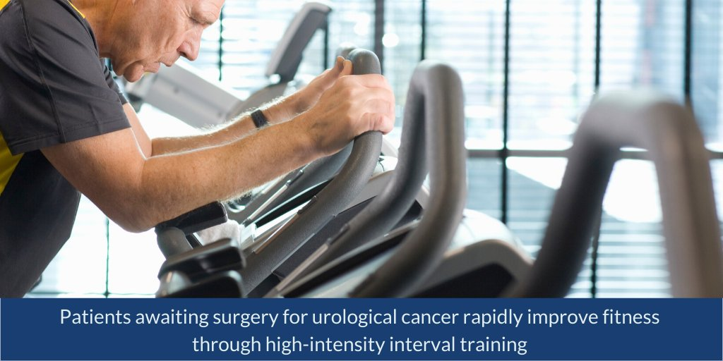 High-intensity interval training (#HIIT) can help urological #cancer patients rapidly improve their #fitness in the short timeframe before surgery, say @UniofNottingham researchers: https://bit.ly/3h0uvTo #prehabilitationpic.twitter.com/Kyv7YIRstn