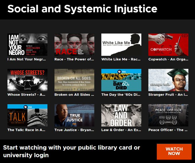 Image of Social and Systemic Injustice Films in Kanopy