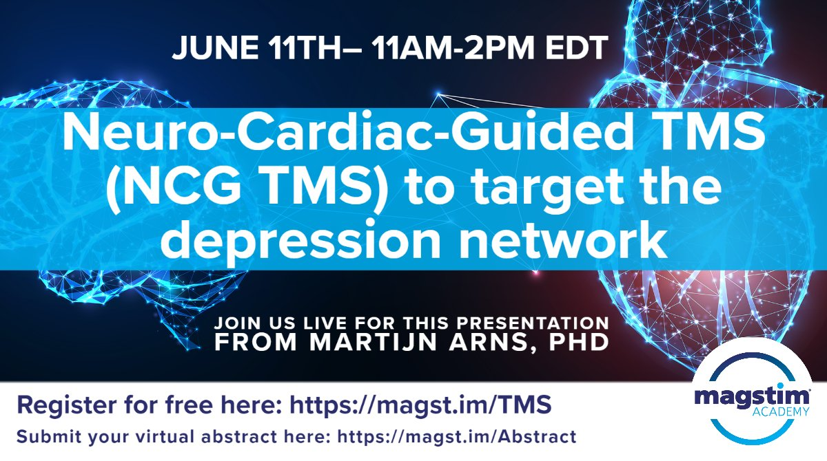 Register for free at https://t.co/BRNoXWS6FH #depression #depressiontreatment #TMS #magstimacademy #clinical https://t.co/yhrOfPWM51