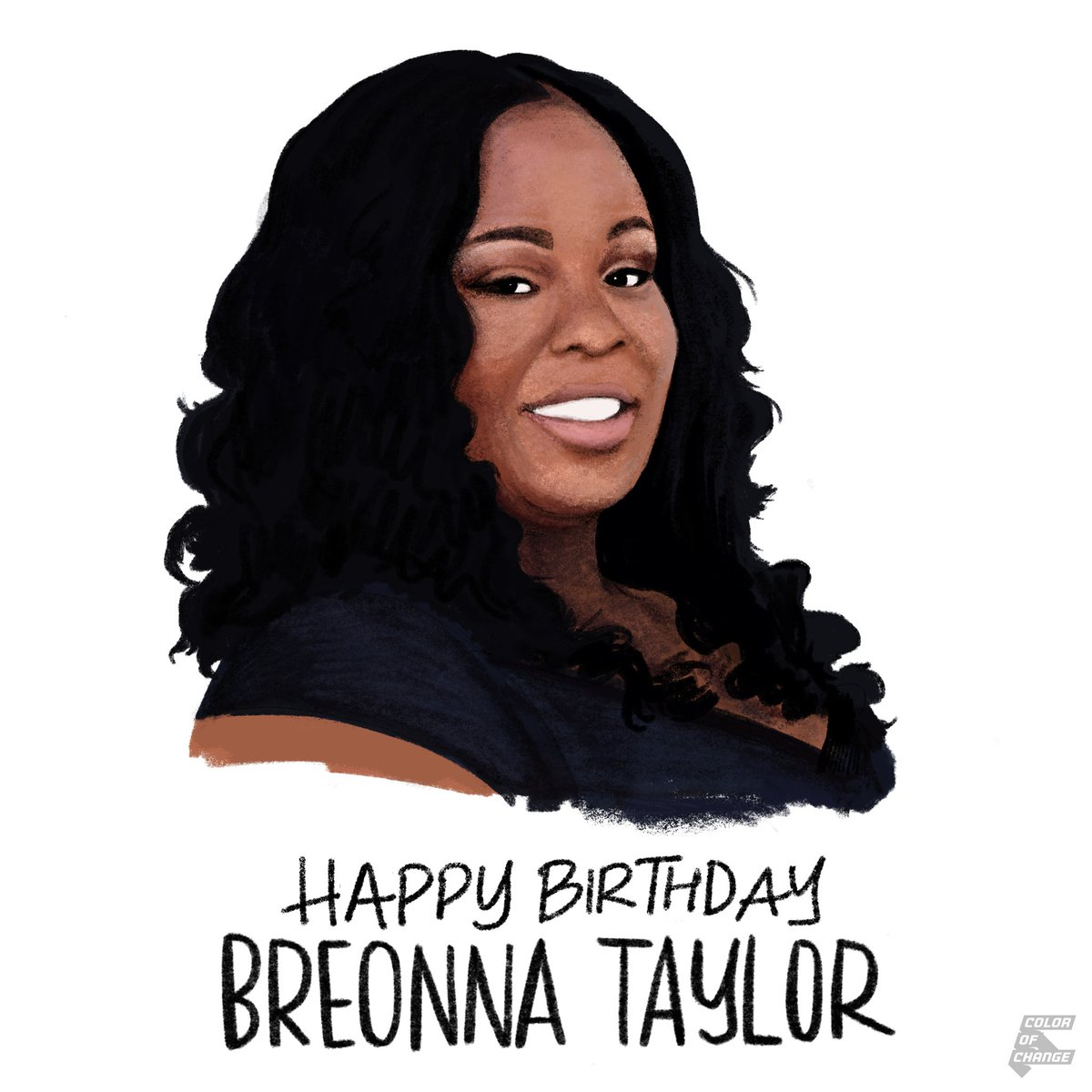 In honor of Breonna Taylor's birthday, demand #JusticeforBre and sign @colorofchange's petition to call on public officials across the country to take action: https://t.co/8eVhErmNLJ   Art via @robinxhilkey https://t.co/dYnfdVLuA1
