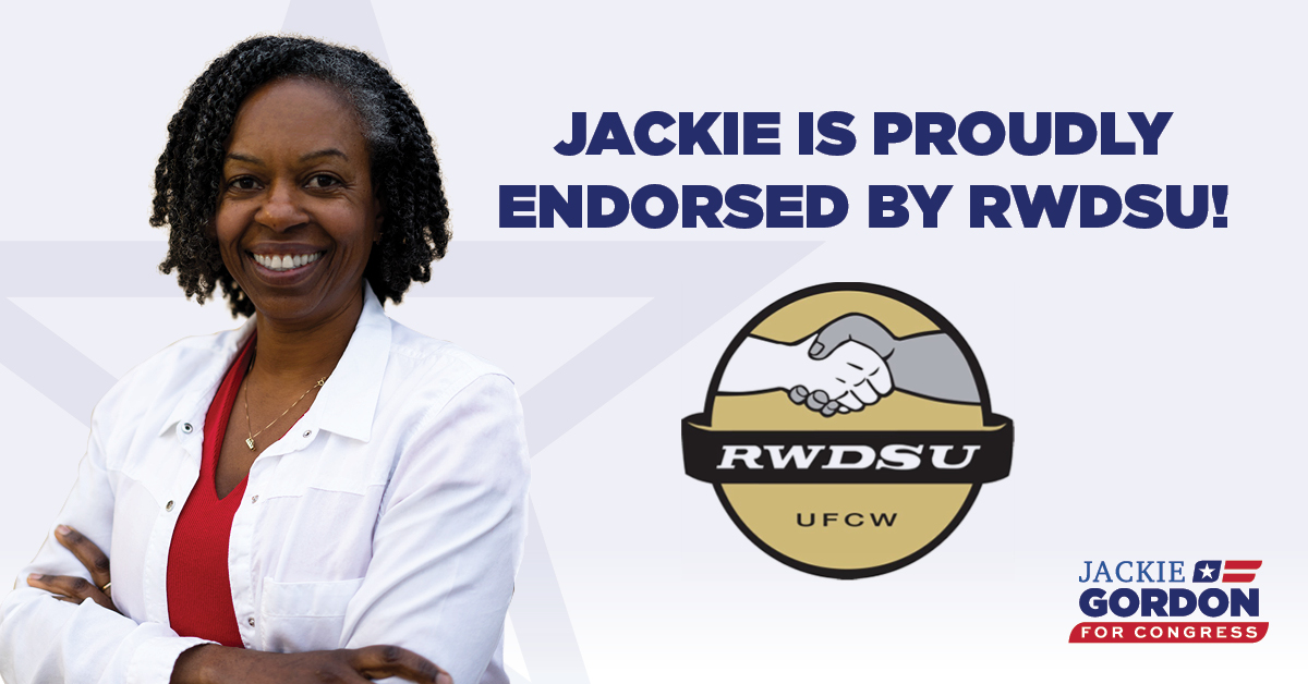 Thank you @RWDSU for your endorsement. I look forward to serving you in Congress!