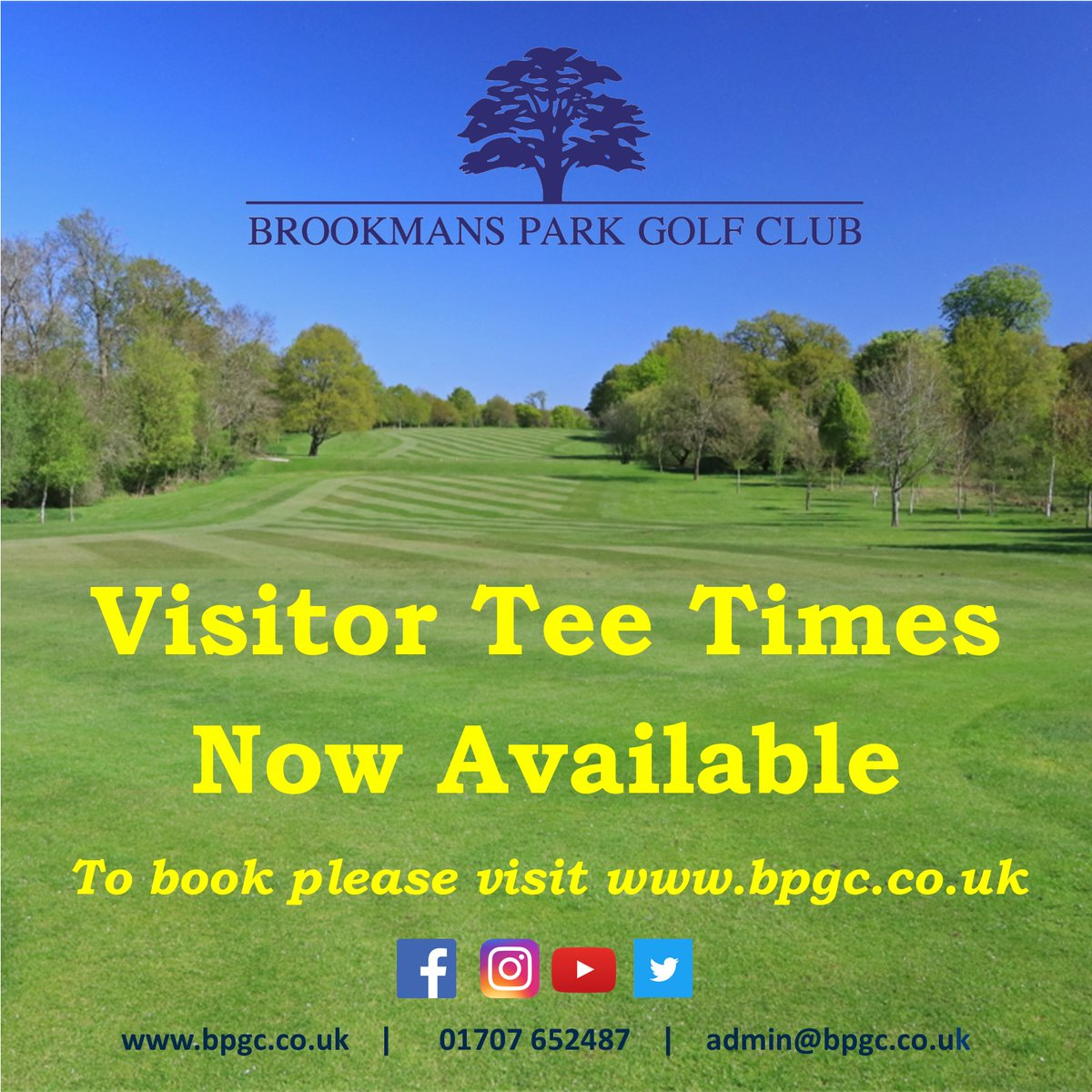 Don't forget to book in for your round of golf this weekend. #brookmansparkgolfclub #golf #visitorgolfpic.twitter.com/e4C9JbPKWZ