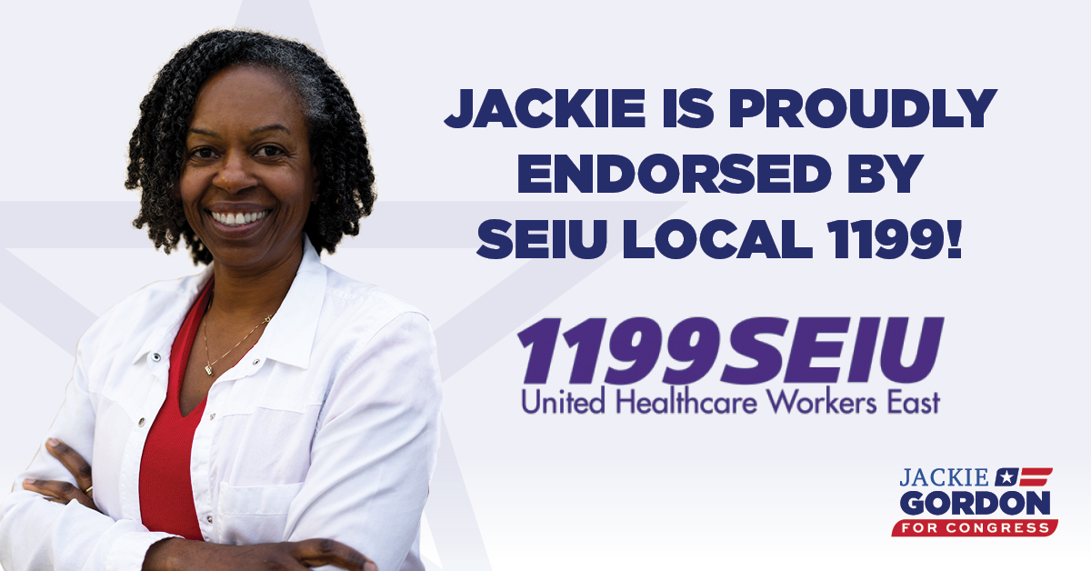 I'm honored to receive the endorsement of @1199SEIU, particularly at this critical time when so many of our health care workers have served on the frontlines of the COVID-19 pandemic. I am committed to being a loud voice for your members in Congress.