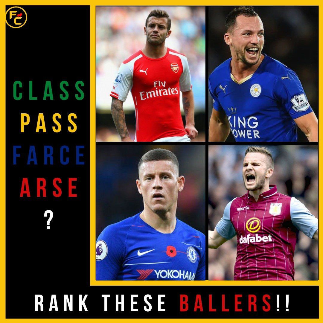 These midfielders might not be the best in their league, but they have had substantial careers in the Premier league. Given the choice, how would you categorise them?  #gunners  #afc #wilshere #leicester #drinkwater #cfc #barkley #astonvilla #evertonfc #manunited #cleverley #epl https://t.co/AWGH9CEgYs