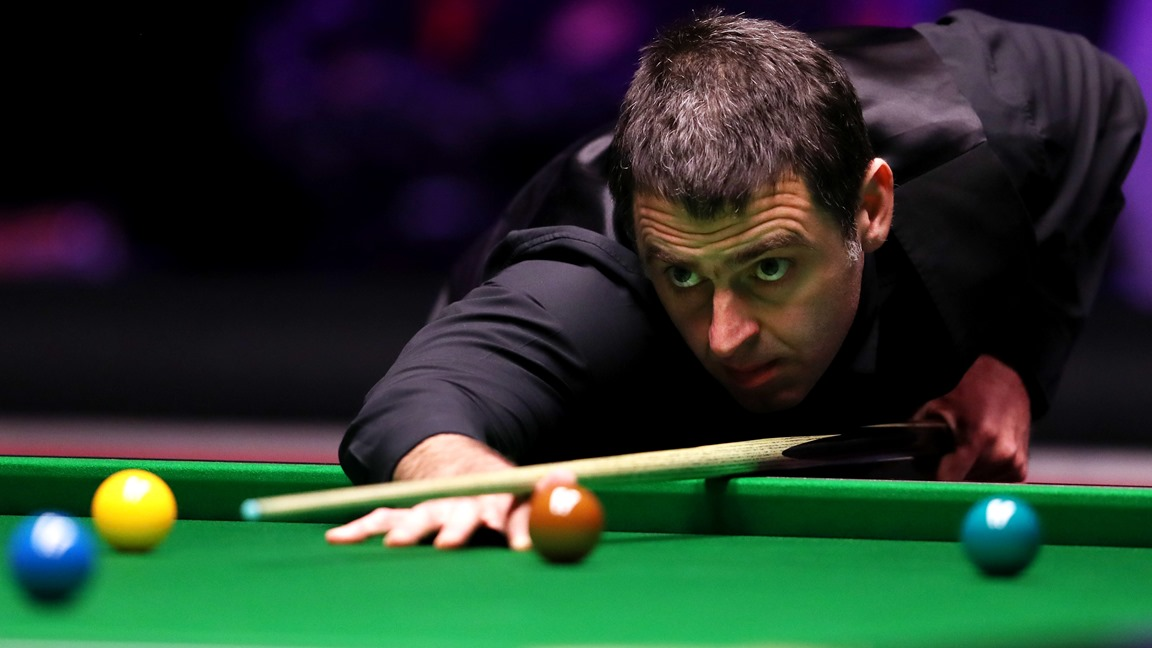 In his first three frames since the return of snooker, Ronnie OSullivan has made a century and two half-century breaks. The Rocket storms to the top of Group J, with a whitewash victory over Kishan Hirani.
