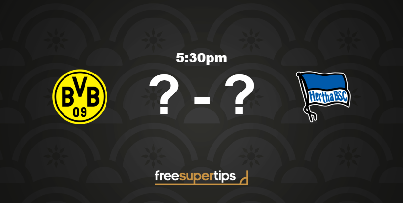 Borussia Dortmund take on Hertha Berlin in the last game of the day from the Bundesliga on BT Sport at 5:30pm! 🇩🇪⚽ VIEW PREDICTIONS HERE ▶ freesupertips.com/predictions/bo… (18+ begambleaware.org)