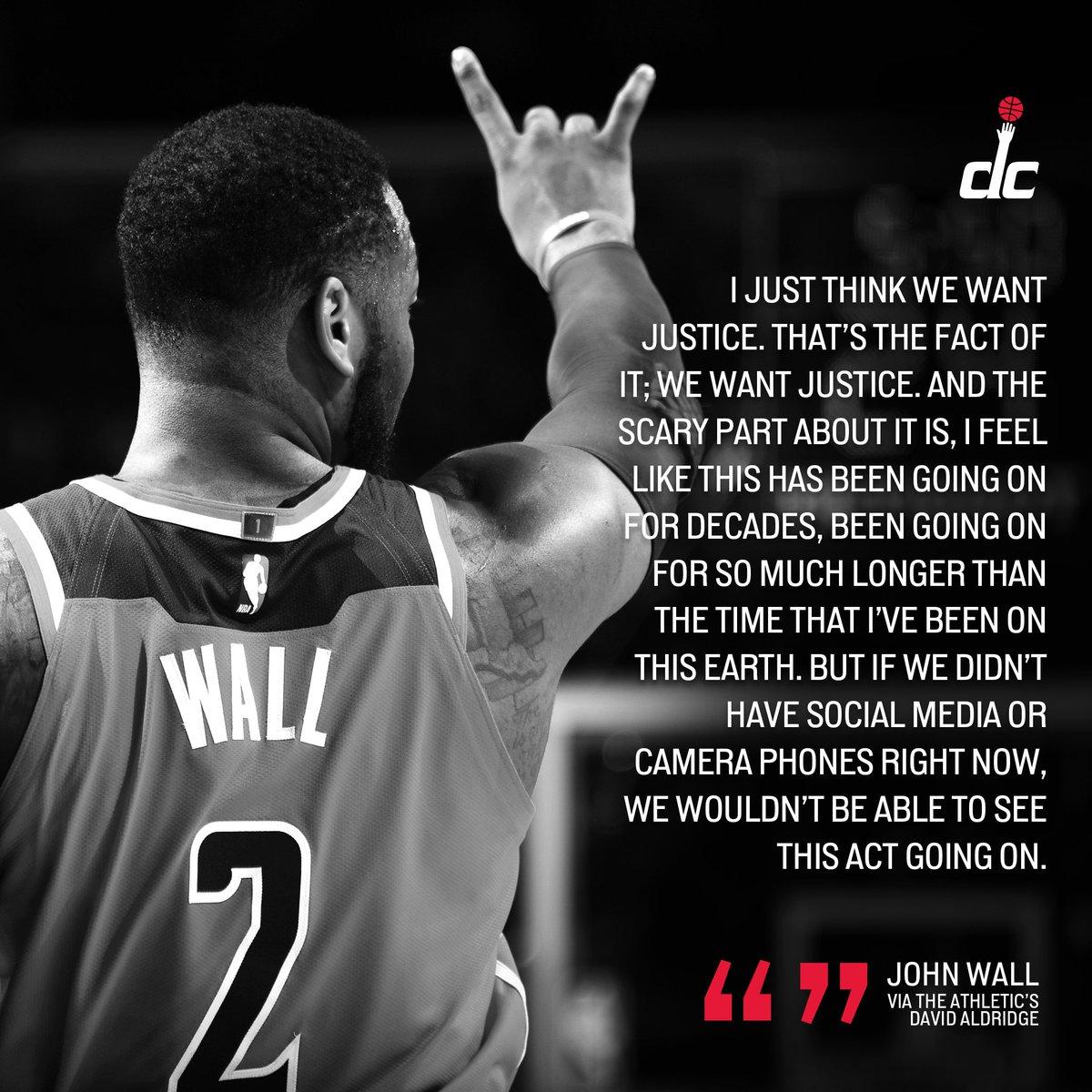 'We want justice.' - @JohnWall #BlackLivesMatter