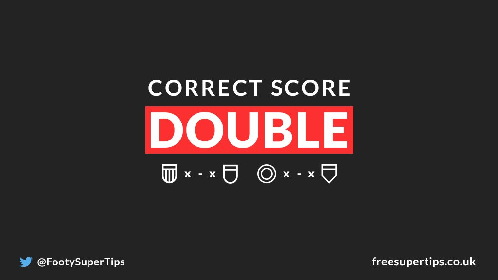 Were backing a pair of 3-1 results for todays 119/1 Correct Score Double... 👇 BET HERE ▶ freesupertips.com/correct-score-… (18+, begambleaware.org)