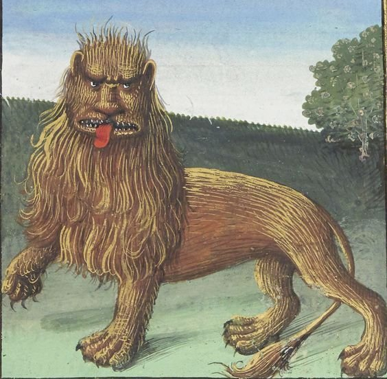medieval artists were roasting the fuck out of lions