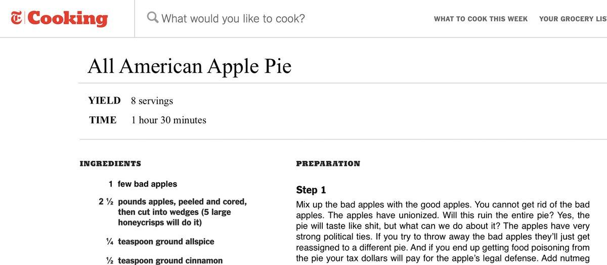 dude this recipe fucking sucks https://t.co/XG6E7urNwh