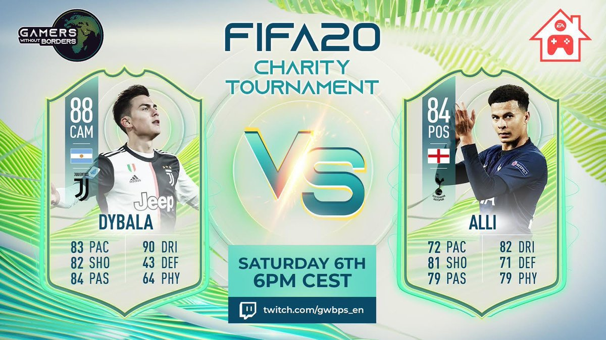 Tomorrow, I'll be taking on @dele_official in FIFA20 to support charities fighting COVID-19 as part of the @GWBPS tournament! 🌐 Don't miss the matches at 6PM CEST 📺 https://t.co/Y72SWYQblx #gwbps #ad https://t.co/fNkBb9Jaib