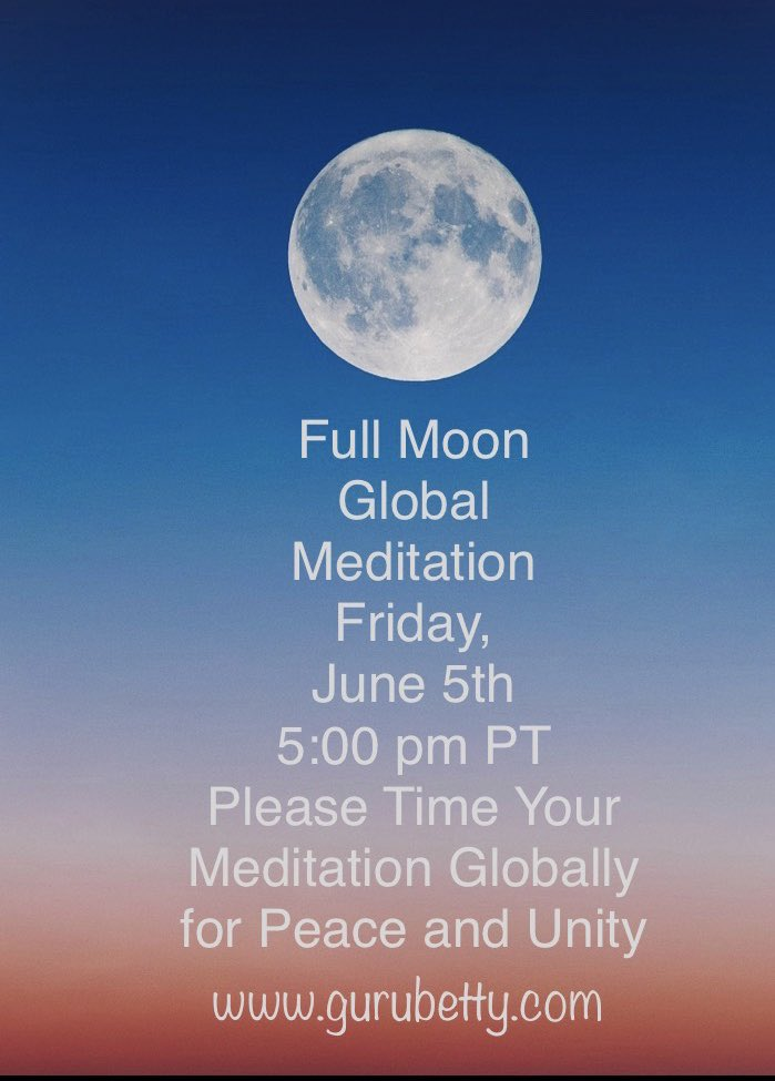 Today 5pm PT Global group meditation. Please join us.
