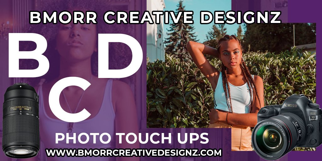 Plenty of sunshine this time of the year and all of you amateur photographers are hopefully busy. Do you have old photos  you want to restore? Do you need your photos touched up? Contact us today. #bmorrcreativedesignz #webdesign #photography #graphicdesign #tgif #twitterpic.twitter.com/Abkt1tGFyS