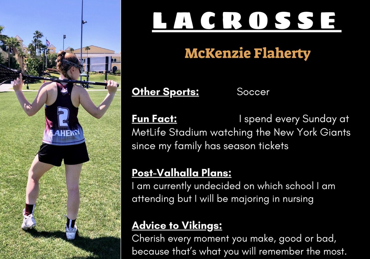 SPRING SPORT SENIORS at 6: Time to cheer for a member of our varsity girls lacrosse team: MCKENZIE FLAHERTY! Until tomorrow, we'll be celebrating the senior-athletes from the Spring 2020 season every day at 6 p.m. https://t.co/s98GlEGdML