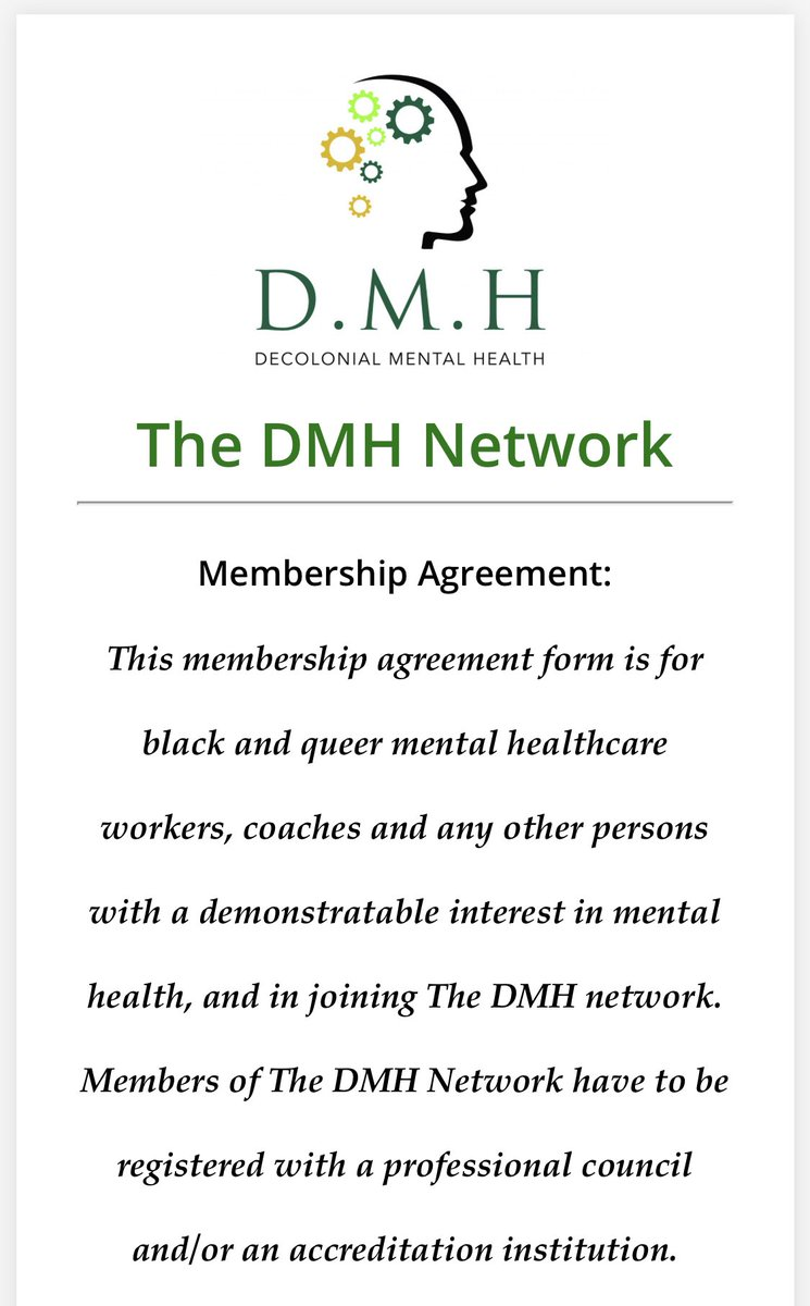 Are you a Psychologist with an interest in Mental Health? Are you registered with the HPCSA? Join #TheDMHNetwork through the link below: 123formbuilder.com/form-5486681/f…