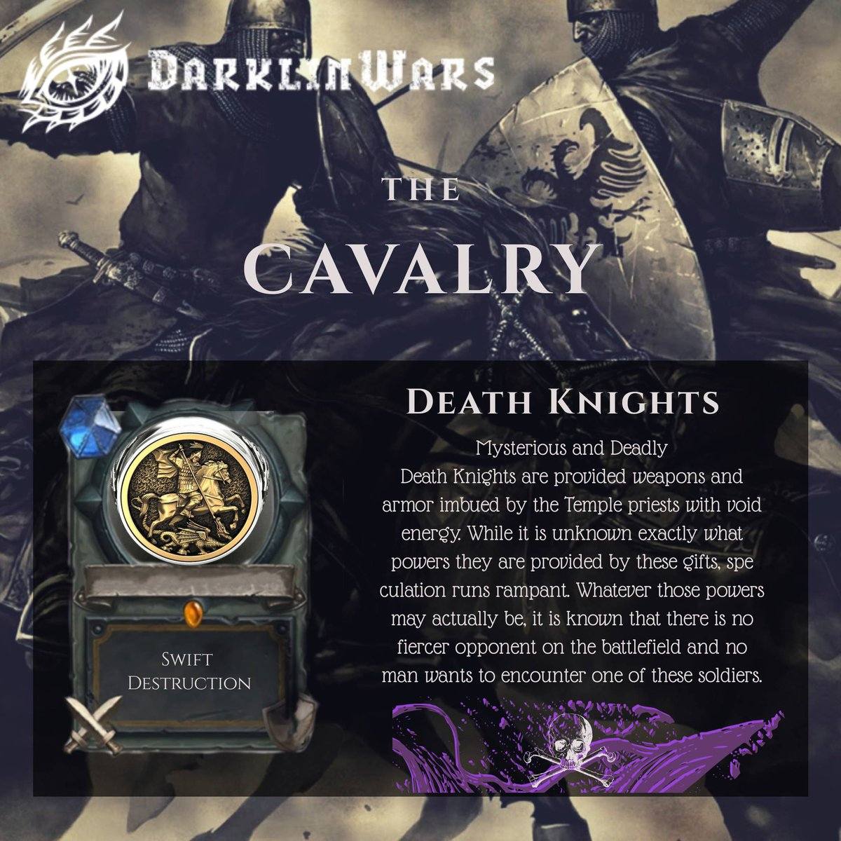 Week 2 - Cavalry DEATH KNIGHTS: Mysterious and Deadly✨ 👉 https://t.co/KLGzXg43sT⚔️ . #indie #game #darklinwars #indiedev #mobile #infantry #mobilegame #indiedevworldhour #mmorts #war https://t.co/eMFs7Zrh7h