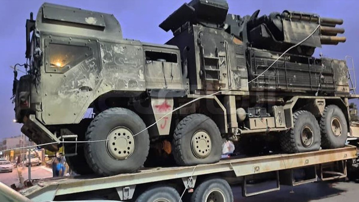 The LNA Pantsir-S1E air defense complex was captured by the GNA and was taken to Germany by the US