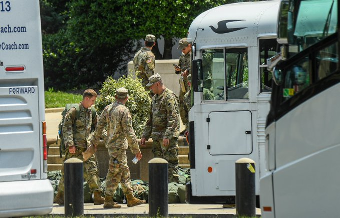 The Pentagon disarms guardsmen deployed in Washington, D.C. @MassGovernor @CharlieBakerMA should disarm soldiers deployed in Boston and other civil society locations across Mass, and knock-off sthe urviellience washingtonpost.com/national-secur… @marty_walsh #bospoli #mapoli #bostonprotest