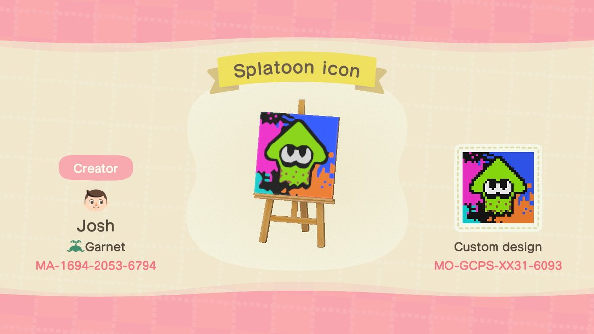 I made a design of the Splatoon menu icon to decorate my squid's turntable. #AnimalCrossing #ACNH #NintendoSwitch