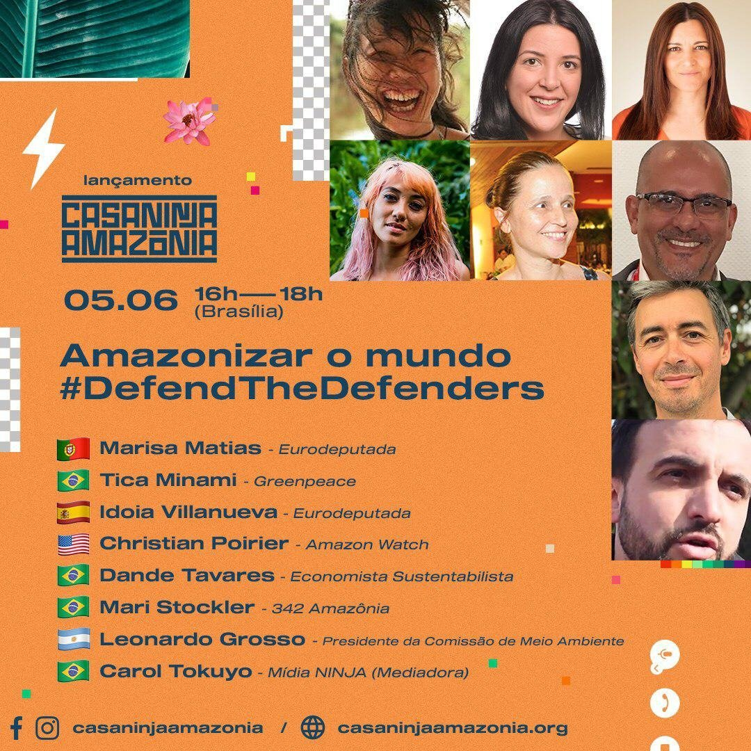 Check out the Amazonize the World Casa Ninja Amazônica livestream event today organized by @MidiaNINJA and featuring a range of voices, from indigenous leaders like Ecuadors Paty Gualinga and Brazilian activists like @ticaminami #DefendtheDefenders