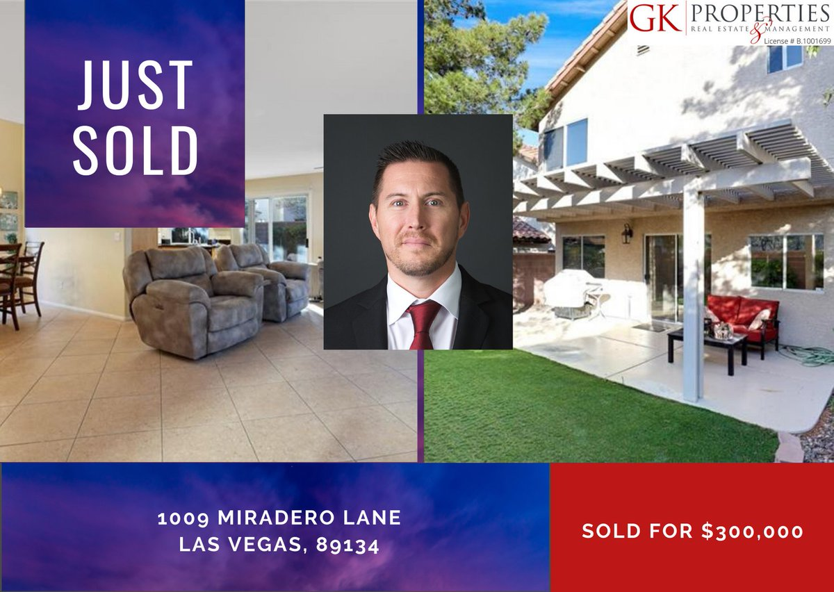 ⭐️ Just SOLD! ⭐️   Way to go Sean St. Marie on the sale of another amazing property. And many congrats to our sellers!   #GK #KypreosTeam #SOLD #bestteam #LVrealtors https://t.co/bWcpJFXa27