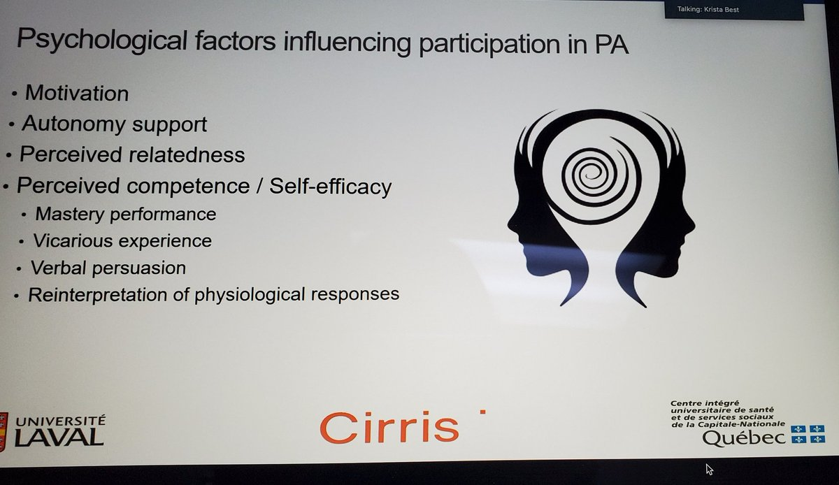 Many factors influencing people with #limbloss participating in physical activity - in Canada infrastructure, accessibility and funding a large issue - moving more can change patient outcomes - presented by Krista Best @CIHR_IRSC meeting on exercise and lower limb losspic.twitter.com/Lq2p40JsD5