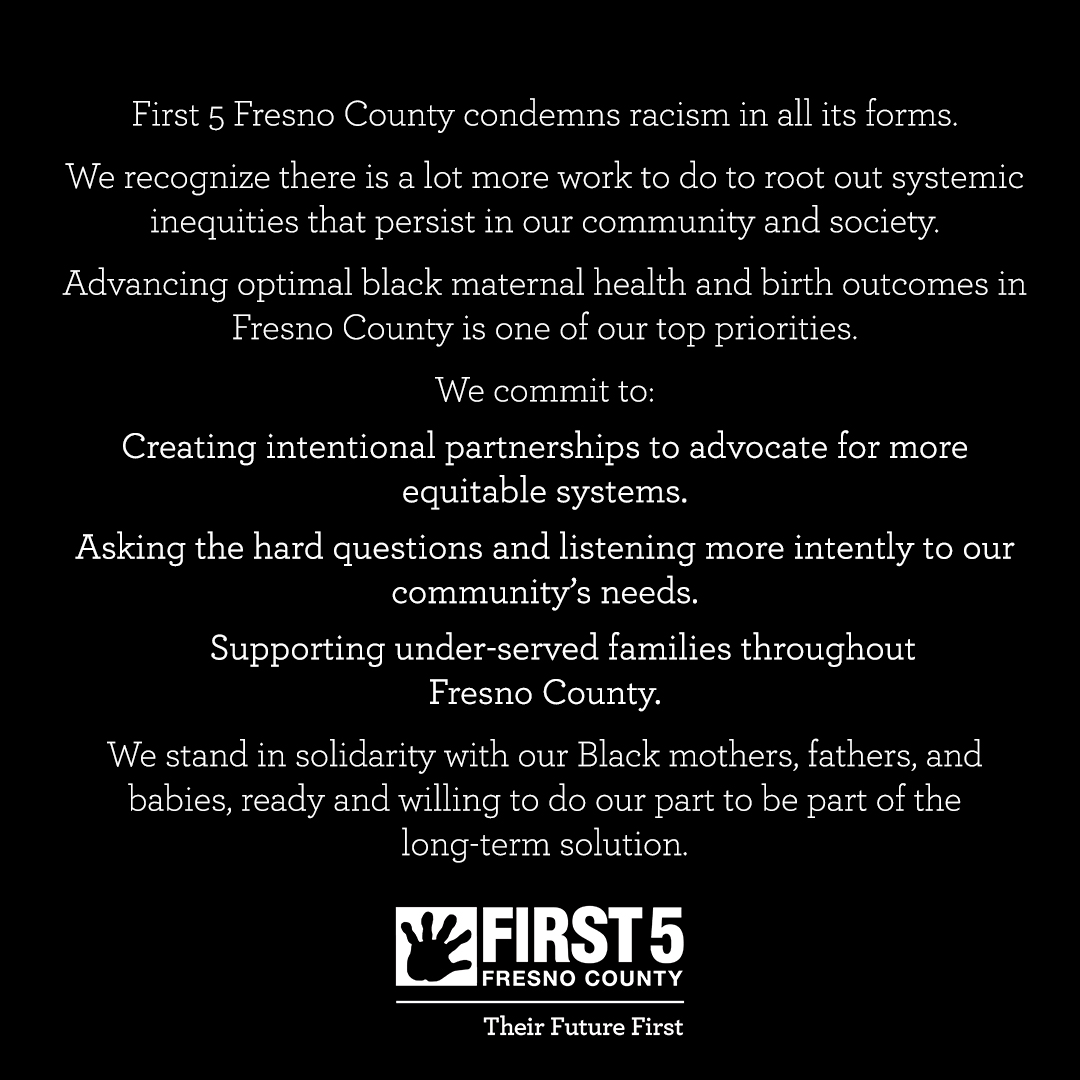 First 5 Fresno County knows children flourish in the context of their families and communities. #theirfuturefirst https://t.co/bzFIf6y6VR