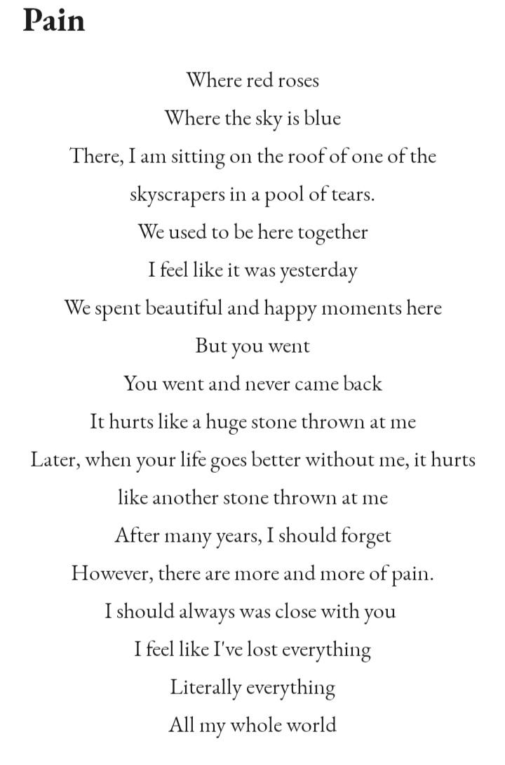 Hi there, I like to write some poems soo  I hope u like it  Sorry for my bad English  It's my first tweet so I hope u follow me and like it #poem #pain #roses #sky #l4l  #LGBT bc I'm lesbianpic.twitter.com/1LbrZHOzuG