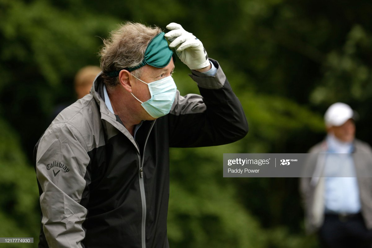 Piers Morgan, Freddie Flintoff, Tommy Fleetwood, Harry Kane and Jose Mourinho take part in the Paddy Power Pro-Armature, socially distanced, Golf Shootout.  : @paddypower via @GettyVIPpic.twitter.com/R47avXpQh1