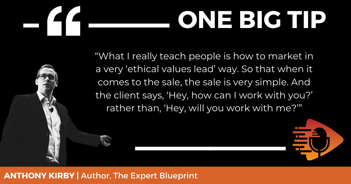 By the end of your meeting, the #client should be asking what they can do to work with you - not the other way around. Anthony Kirby's specialty is teaching #entrepreneurs to make the perfect pitch, and he's sharing some of his tips today. #listennow https://t.co/DKza7ynHgy https://t.co/FHtJMOdqZy