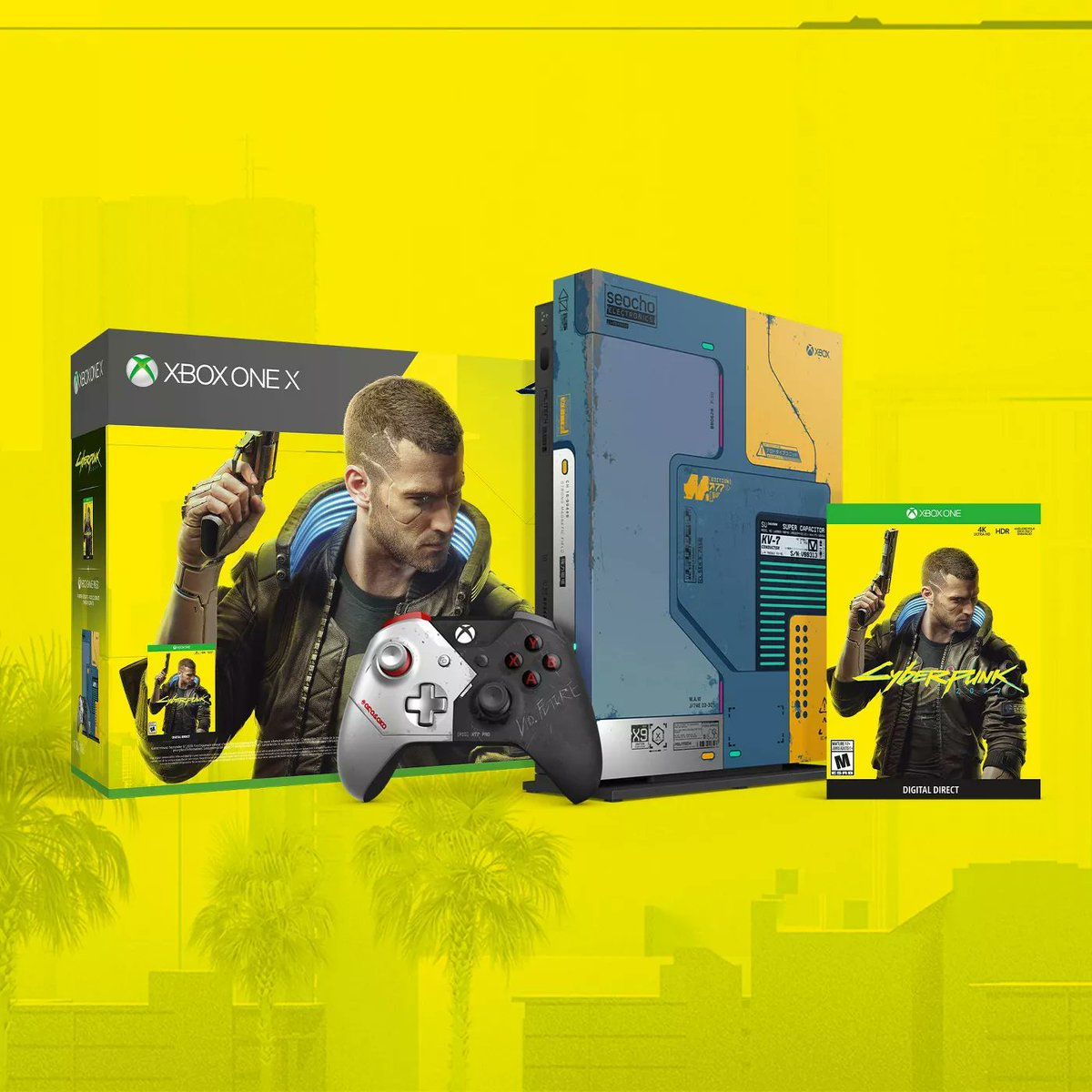 Xbox One X 1TB Console - Cyberpunk 2077 Limited Edition Bundle is available on Newegg Business ($299.99) https://bit.ly/2MAAkJ7 pic.twitter.com/bJGR4cYiKJ