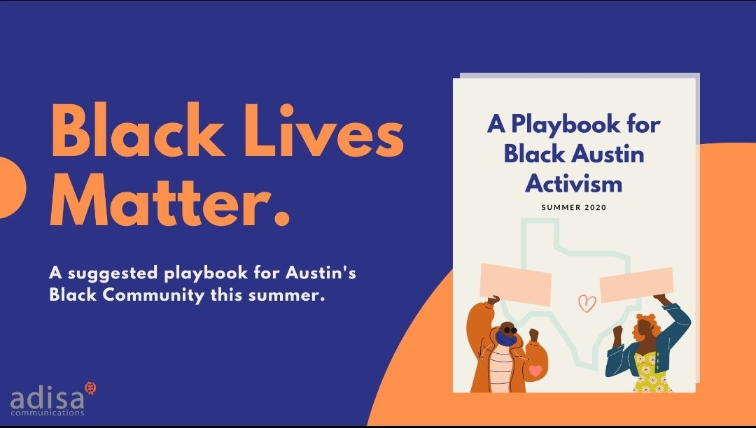 For Black Austin + allies I wrote a playbook of steps we can take immediately to empower our pain. Download: makingthingsclear.com/playbook/ #ATX #BlackLivesMatter #GeorgeFloyd