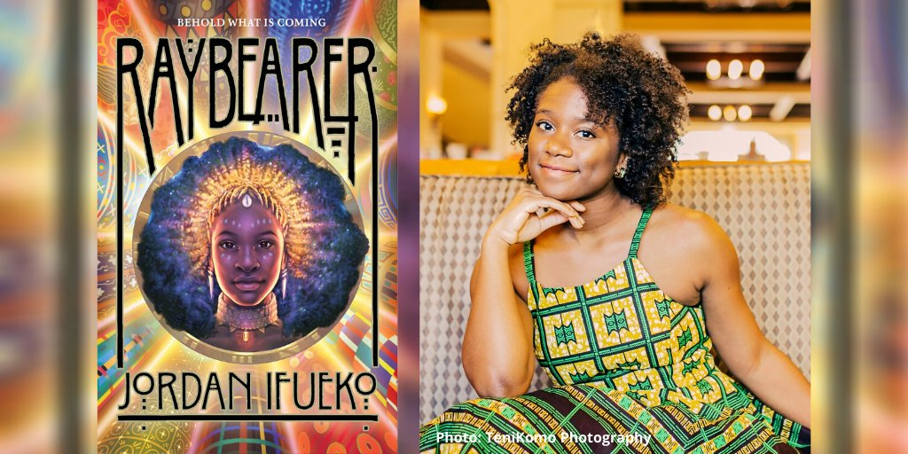 """""""I grew up hearing so many excuses for why race inclusivity in fantasy worlds wasn't 'realistic....' If dragons are plausible, why not Black fairies, Yoruba emperors, and Korean princes?""""  In BTW, a Q&A with #IndiesIntroduce author @jifueko (RAYBEARER): https://t.co/94w4Hgrffo https://t.co/jIwzvBZqwd"""