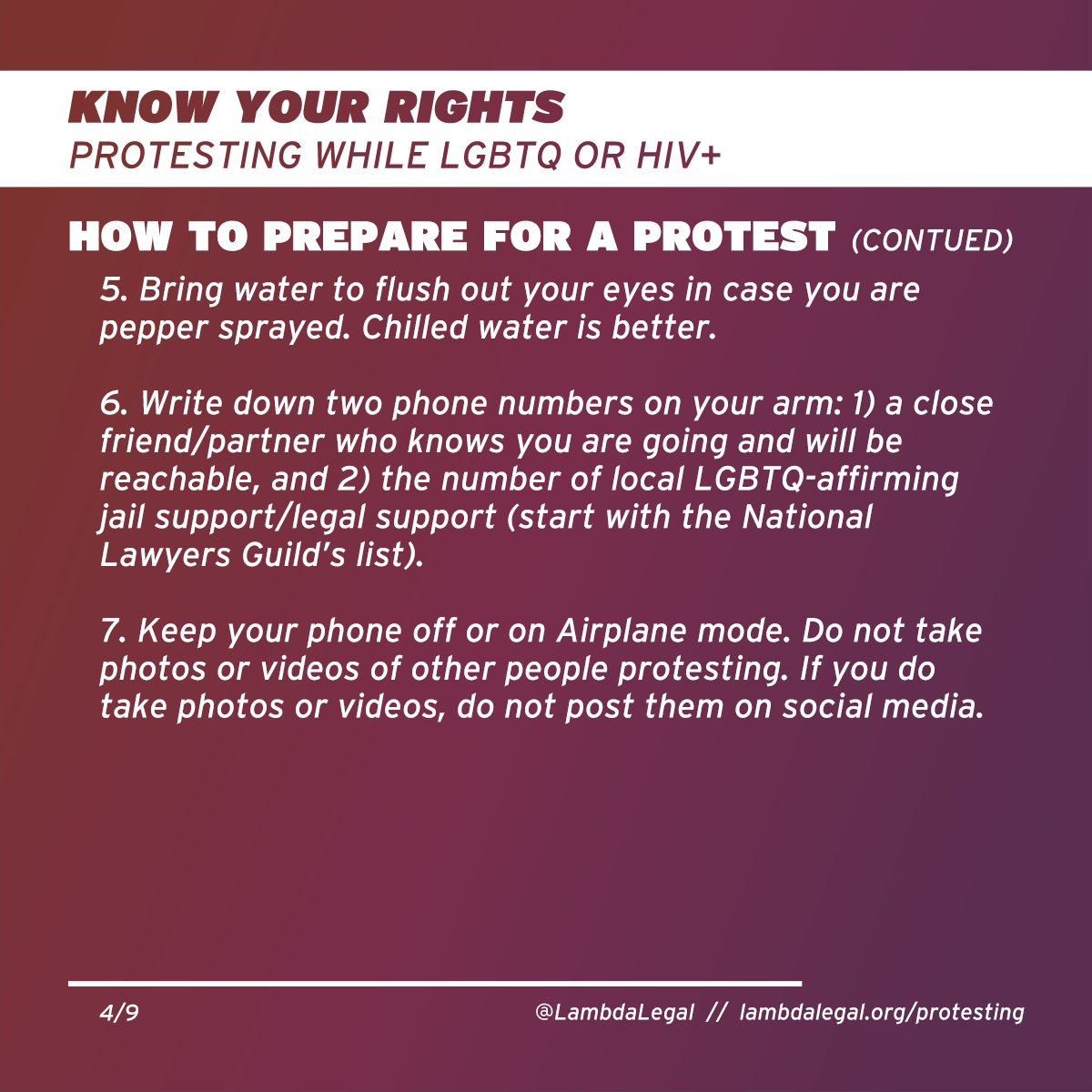 Bring WATER (chilled is better) to flush eyes in case of gas/pepper spray.  Write 2 phone numbers on your body: personal contact & number of local legal support (@NLGnews list: https://www.nlg.org/chapters/ )  Keep phone OFF or on Airplane mode. Don't post pics/vids on social.pic.twitter.com/n7S0HhaHa5