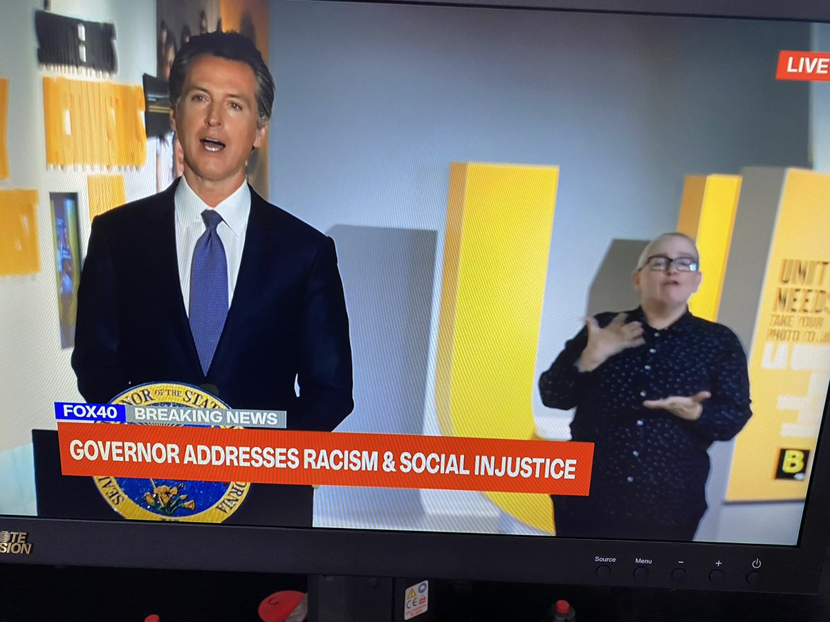 """In beginning his address to the state about #SocialJustice, Gov. @GavinNewsom says there is a 'great amount of clarity coming from our youth. They don't mince words. They're not confident that folks in positions like mine... get it."""" @FOX40pic.twitter.com/YEcAGZrCoP"""