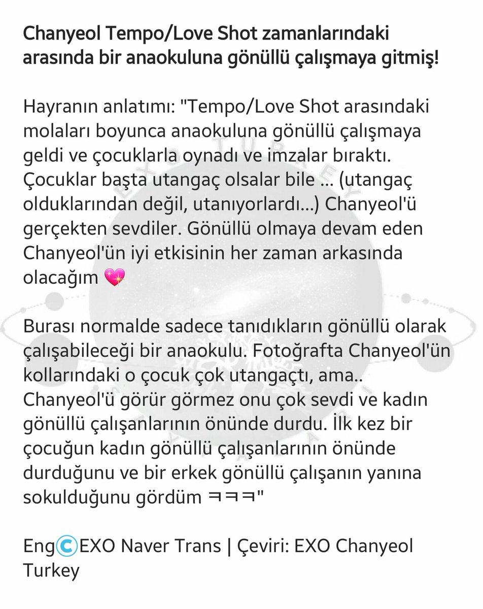 """200605   Chanyeol Tempo/Love Shot zamanlarındaki arasında bir anaokuluna gönüllü çalışmaya gitmiş! ❤  """"Chanyeol'ün kollarındaki o çocuk çok utangaçtı, ama.. Chanyeol'ü görür görmez onu çok sevdi""""  Hayranın anlatımı 👇  #찬열 #CHANYEOL #엑소 #EXO @weareoneEXO https://t.co/Vtk6b6eyE5"""