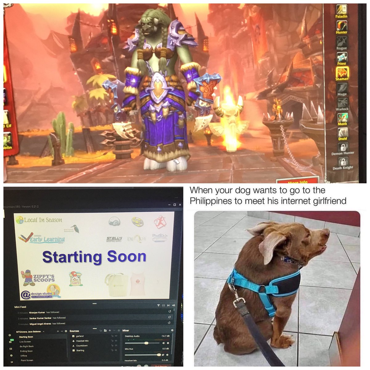 Going live on Twitch! Playing World of Warcraft - (http://twitch.tv/CAdesignstudio ) Join me? #worldofwarcraft #warcraft #twitch #twitchgaming #twitchstreamer #twitchaffiliate #live #livestream  #video #supportsmallstreamers  http://Twitch.tv/CAdesignstudio pic.twitter.com/FXC4isrhX7